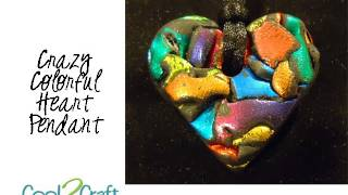 How to Make a Chunky Heart Polymer Clay Pendant by Candace Jedrowicz