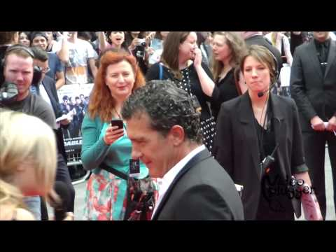 Antonio Banderas attends the world premiere of The Expendables III