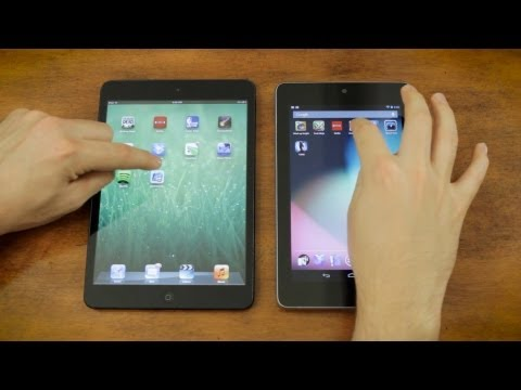 Apple iPad Mini vs Google Nexus 7 vs Speedtest & Gaming Performance