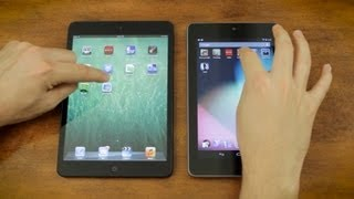 Apple iPad Mini vs Google Nexus 7 vs Speedtest & Gaming Performance