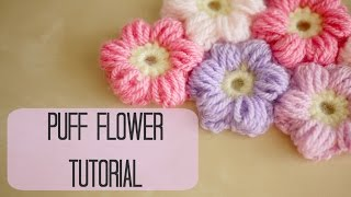 Download CROCHET: How to crochet a puff flower | Bella Coco 3Gp Mp4