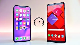 iPhone XS MAX vs Samsung Galaxy Note 9 - Speed Test!