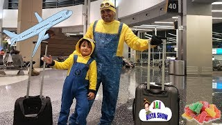 Sour Candy Challenge Kid on the Airplane Surprise Toys Opening with Jai Bista Show