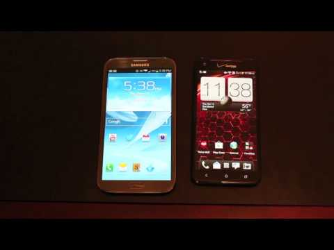 Verizon Galaxy Note II Vs HTC Droid DNA! DeathMatch!