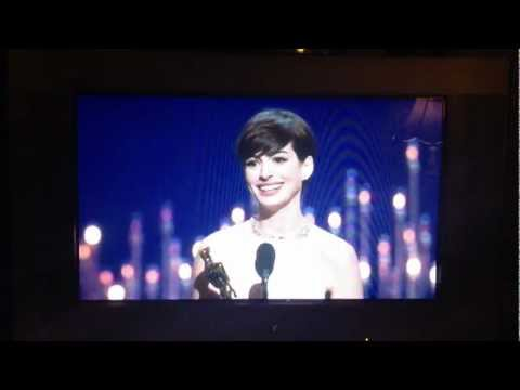 Anne (Catwoman/Fantine) Hathaway Winning Best Supporting Actress. IMG_6601