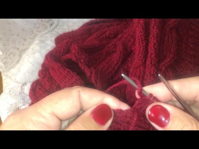 Часть 4. Вязание рукава. Имитация втачного рукава.