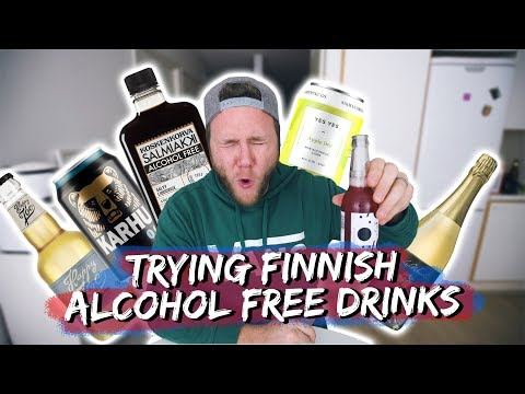 TRYING FINNISH ALCOHOL FREE DRINKS | Taste Test Tuesday