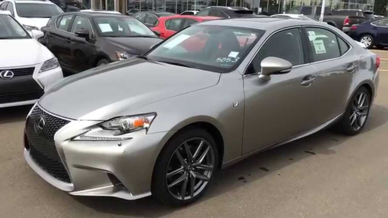 New Atomic Silver On Red 2015 Lexus IS 350 AWD F Sport