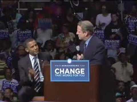 Al Gore Endorses Barack Obama in Detroit, MI