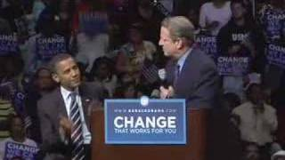 Al Gore apoya a Barack Obama