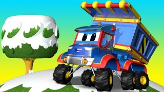 Truck videos for kids - THE DUMP TRUCK SPECIAL WINTER !  Super Truck in Car City !