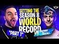 SETTING THE SEASON 8 WIN STREAK WORLD RECORD?! - PART ONE?! (Fortnite: Battle Royale)