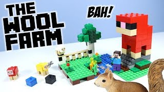 LEGO Minecraft The Wool Farm Set 21153 Speed Build Review 2019