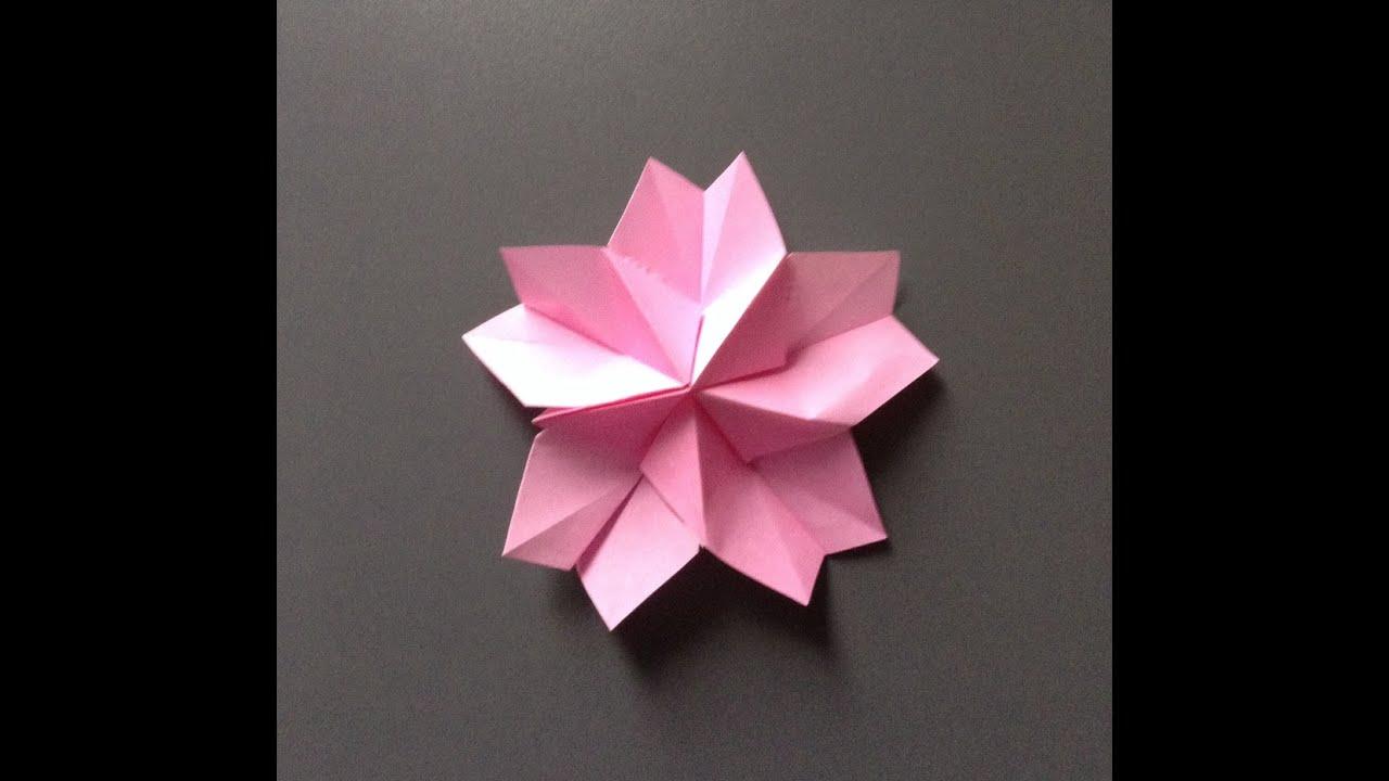 すべての折り紙 折り紙 切り絵 桜 : 、折り紙で. 桜. 折り紙 で桜 ...