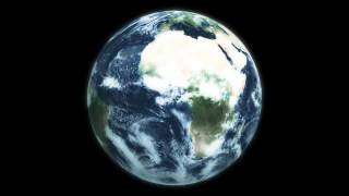 Planet Earth View from Space Animation Globe Rotation Spinning 1080p HD High Definition Video Loop