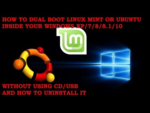 How To Install Linux Mint/Ubuntu Inside Windows XP/7/8/10 Wthout CD/USB