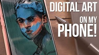 Digital Drawing Tablet You Can Use With Your PHONE! - Huion HS64 Review