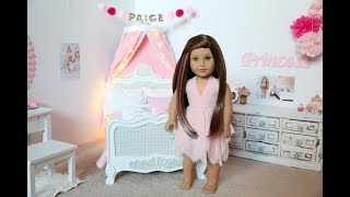 American Girl Doll Paige's Bedroom!! Princess Theme!