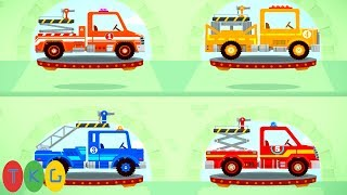 Xe Cứu Hỏa và Khủng Long con - Fire Truck & Dinosaur for Kids   TopKidsGames