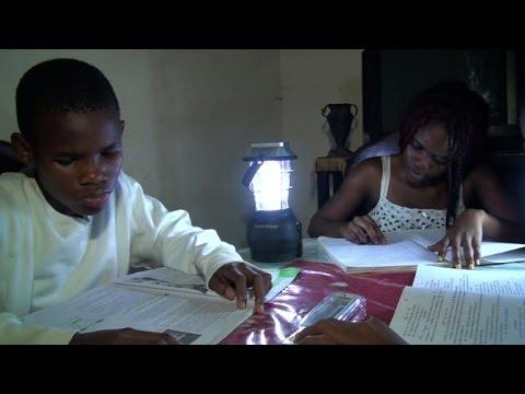 Solar lamps light way despite Cameroon blackouts