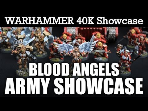 STUNNING Blood Angels Space Marine Army Warhammer 40K Showcase PRO PAINTED   HD Video