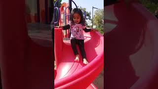 Kids Playing With Slides | Sand | Mayra | 2 Years