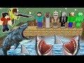 CANAVARLAR KÖPEK BALIĞI HAVUZUNA DÜŞTÜ! 😱 - Minecraft