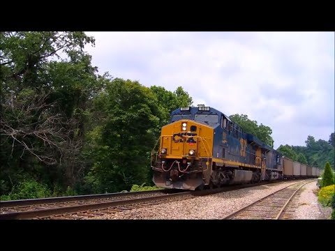 CSX Unit Coal Train  In Spruce Pine, NC