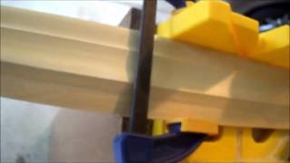 Hold Wide Molding in Mitre Box