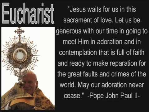 Eucharist Adoration - YouTube: www.youtube.com/watch?v=8m5l1r7jDOQ