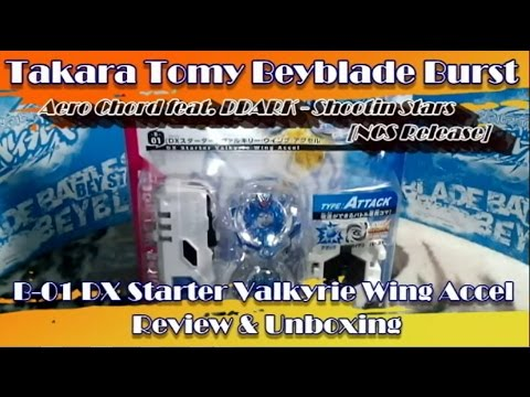 Beyblade Burst: B-01 DX Starter Valkyrie Wing Accel Unboxing & Review