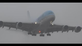 (HD) Watching Airplanes In the Rain, Plane Spotting Los Angeles International Airport KLAX/LAX