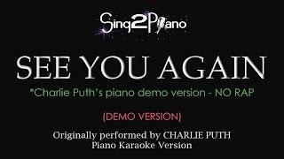 download lagu See You Again No Rap - Piano Karaoke Demo gratis