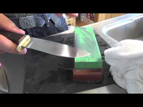 Water stone sharpening / Hollow & Convex
