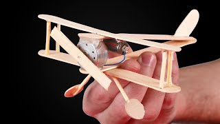 AMAZING DIY DC MOTOR AIRPLANE!