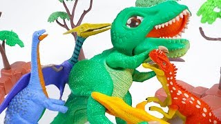 Dino Mecard Double Action Figures Monolophosaurus, Saltasaurus, Mosasaurus, Quetzalcoatlus | ToyMoon