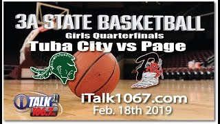 Tuba City vs Page Girls 3A State Basketball Quarterfinals Full Game
