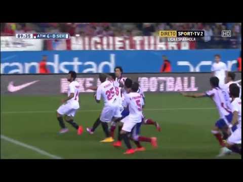 Primer gol de Raul Jimenez con el Atletico de Madrid