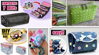 7 THE BEST DIY POUCH & BAGS YOU CAN EASY MAKE From Refuse Trash  No Spend Money