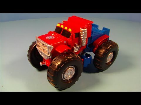 TRANSFORMERS 2 in 1 RESCUE BOTS OPTIMUS PRIME ACTION FIGURE TOY REVIEW