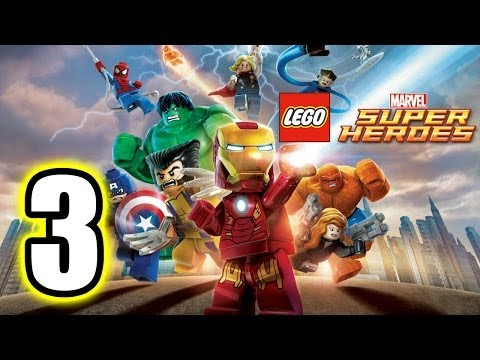 LEGO Marvel Super Heroes Walkthrough PART 3 PS3 Lets Play Gameplay TRUE HD QUALITY