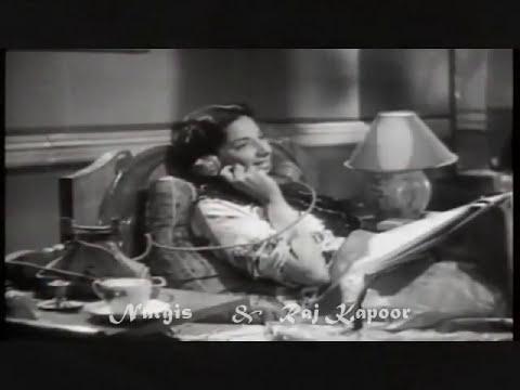 Mere Dil Ki Dhadkan Kya Bole..talat -lata -shailendra-roshanlal -raj Kapoor & Nargis video