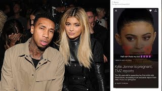 """Tyga Claims HE is the Father of Kylie Jenner's Baby: """"Hell Nah Thats My Kid 😈😈😈😈"""""""