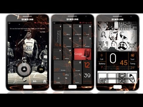 Best Android Themes : Samsung Galaxy Note #2 2012 video