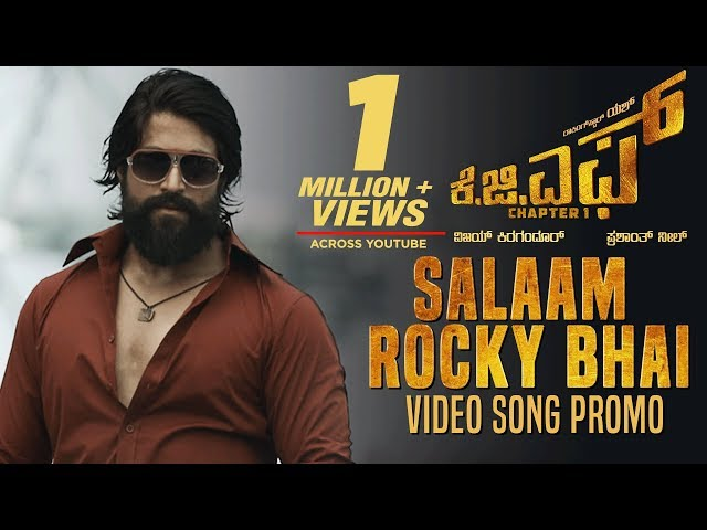 KGF: Salaam Rocky Bhai Video Song Promo | KGF Kannada Movie | Yash | Prashanth Neel | Hombale Films thumbnail