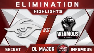 Secret vs Infamous [TOP 8] Stockholm Major DreamLeague Highlights 2019 Dota 2