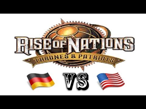 Rise of Nations: Thrones & Patriots Germany VS USA Skirmish Gameplay