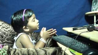 CHRISTIAN WORSHIP SONGGODAVARTHI MAANYA 2 YEARS 3 MONTHS BABY