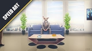 """The Inteview"" - Speed Art #Photoshop CC (By: Kyan Artz)"