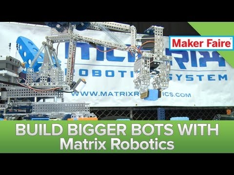 Supercharge Lego Mindstorm NXT With Matrix Robotics Metal Upgrades! Maker Faire 2013